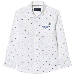 Mayoral Boys Tops White White Printed Long Sleeve Shirt