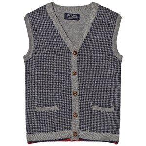 Mayoral Boys Jumpers and knitwear Grey Grey Houndstooth Design Vest