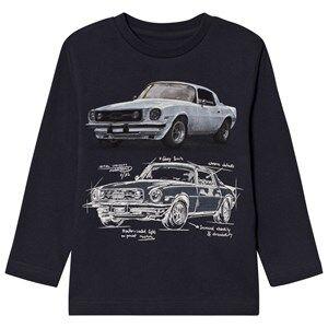 Mayoral Boys Tops Grey Grey Car Design Long Sleeve Tee