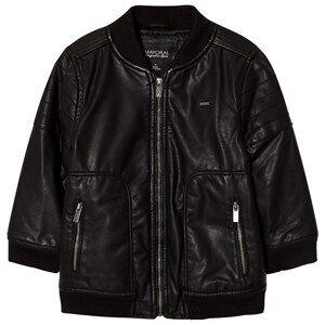 Mayoral Boys Coats and jackets Black Black Pleather Bomber Jacket