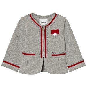 Mayoral Girls Coats and jackets Grey Grey Milano Blazer Velvet Bow Trims