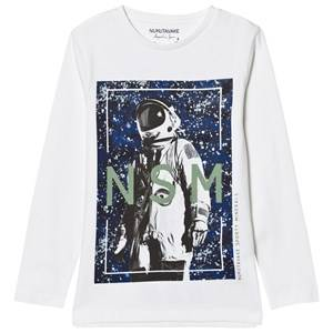 Mayoral Boys Tops Cream Cream Astronaught Print Tee
