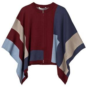 Mayoral Girls Jumpers and knitwear Red Red and Blue Knit Poncho