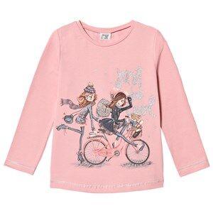 Mayoral Girls Tops Pink Pink Bicycle Girls Glitter Tee
