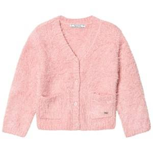 Image of Mayoral Girls Jumpers and knitwear Pink Pink Fluffy Cardigan
