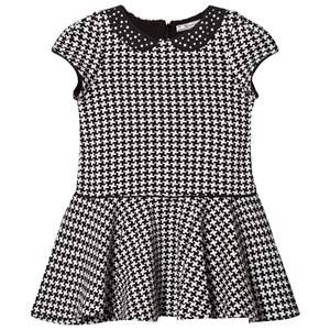 Mayoral Girls Dresses Grey Grey and Black Houndstooth Dress