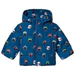 Stella McCartney Kids Girls Coats and jackets Navy Navy Helmet Print Hubert Puffer Coat