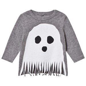 Stella McCartney Kids Unisex Tops Grey Grey Ghost Fringe Georgie Tee