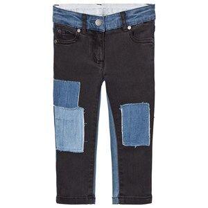 Stella McCartney Kids Girls Bottoms Blue Black Nina Denim Jeans with Patches