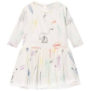 Image of Stella McCartney Kids Girls Dresses White White Luna Embroidered Skates Tulle Dress