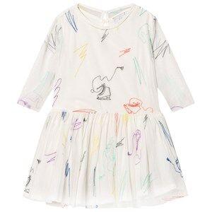 Stella McCartney Kids Girls Dresses White White Luna Embroidered Skates Tulle Dress
