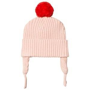 Stella McCartney Kids Girls Headwear Pink Pink Sherry Pom Pom Baby Hat