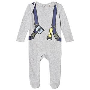 Stella McCartney Kids Girls All in ones Grey Grey Backpack Rufus Baby Body