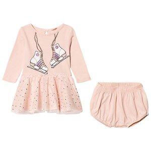 Image of Stella McCartney Kids Girls Dresses Pink Pink Skate Print Primrose Dress with Bloomers Set