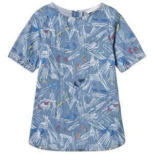 Stella McCartney Kids Girls Dresses Blue Blue Scribble and Skates Bess Dress