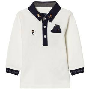 Mayoral Boys Tops Cream Cream Sausage Dog Embroidered Polo