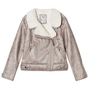 Mayoral Girls Coats and jackets Gold Gold Faux Shearling Biker Jacket