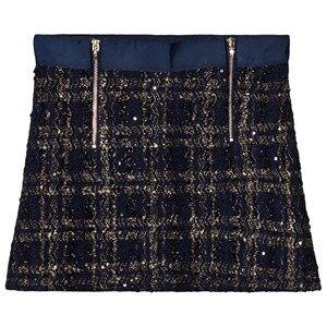 Mayoral Girls Skirts Navy Navy Tweed Zip Skirt