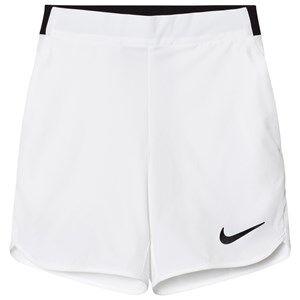NIKE Boys Shorts White White Flex Ace Tennis Shorts