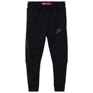 NIKE Boys Fleeces Black Tech Fleece Pants Black