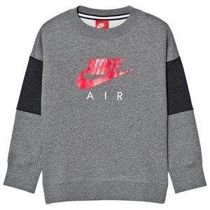 NIKE Boys Tops Grey Nike Air Crew Sweater Gray