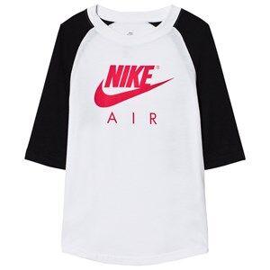 NIKE Boys Tops White Nike Air 3/4 Tee White