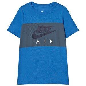 NIKE Boys Tops Blue Nike Air Block T-Shirt in Blue