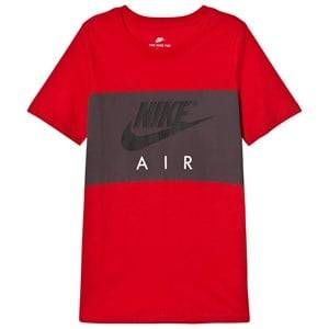 NIKE Boys Tops Red Nike Air Block T-Shirt in Red