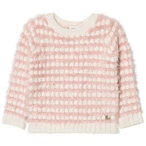 Carrément Beau Girls Jumpers and knitwear Pink Pink Cream Fluffy Jumper