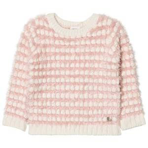Carrément Beau Girls Jumpers and knitwear Pink Pink Cream Fluffy Jumper