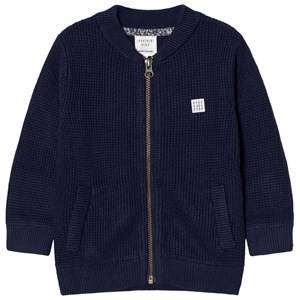 Carrément Beau Boys Coats and jackets Navy Navy Rib Knit Zip Jacket