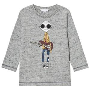 Little Marc Jacobs Boys Tops Grey Grey Marl Mr Marc Guitar Print Tee