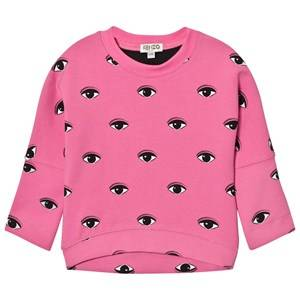 Kenzo Girls Tops Pink Pink Eye Print Sweatshirt