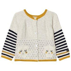 Catimini Girls Jumpers and knitwear Cream Cream Star Intarsia Cardigan