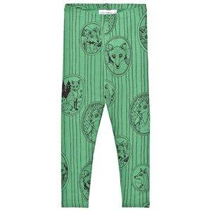 Mini Rodini Unisex Bottoms Green Fox Family Leggings Green
