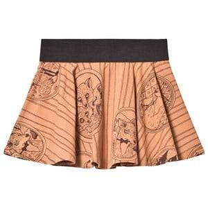 Mini Rodini Girls Skirts Brown Fox Family Skirt Brown