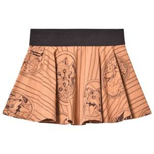 Mini Rodini Girls Skirts Brown Fox Family Skirt Brown