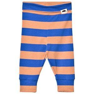 Mini Rodini Unisex Bottoms Blue Blockstripe Leggings Blue