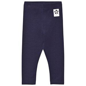 Mini Rodini Unisex Bottoms Blue Basic Leggings Navy