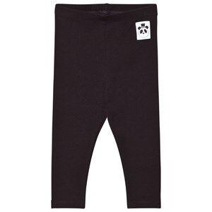 Mini Rodini Unisex Bottoms Black Basic Leggings Black