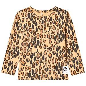 Mini Rodini Unisex Tops Beige Basic Leopard Grandpa Tee Beige
