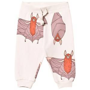 Mini Rodini Unisex Bottoms Grey Bats Sweatpants Light Grey