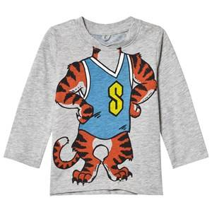 Stella McCartney Kids Boys Tops Grey Grey Tiger Print Georgie Tee