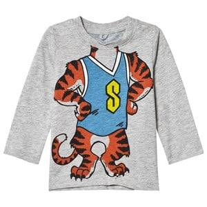 Stella McCartney Kids Boys Tops Grey Grey Tiger Print Georgie Tee