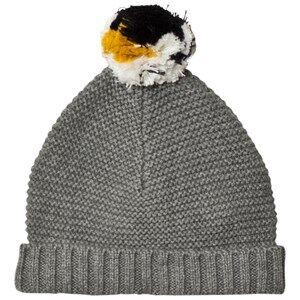 Stella McCartney Kids Unisex Headwear Grey Penguin Pom Pom Knit Hat