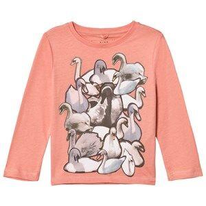 Stella McCartney Kids Girls Tops Pink Pink Swans Print Bella Tee