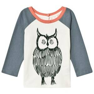Stella McCartney Kids Girls Tops White White Owl Print Izzy Tee