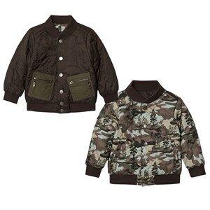 Stella McCartney Kids Boys Coats and jackets Green Green Camo Bud Bomber Jacket