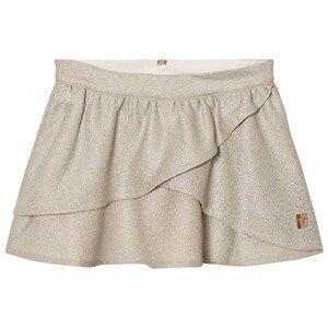 Carrément Beau Girls Skirts Gold Gold Lurex Wrap Front Skirt