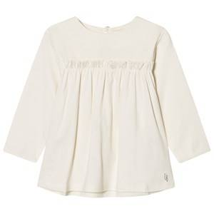 Carrément Beau Girls Tops Cream Frill Front Tee Cream